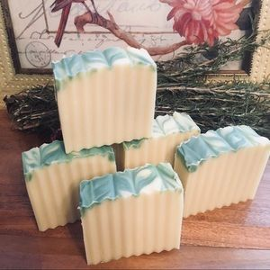 Homemade Bath - Lemongrass & Sweet Basil All Natural Homemade Soap